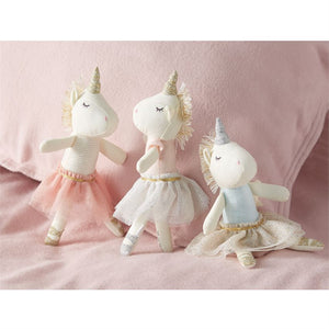Mud Pie Blue Top Unicorn Rattle - Bloom Kids Collection - Mud Pie