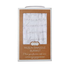Mud Pie I Love You Forever Swaddle - Bloom Kids Collection - Mud Pie