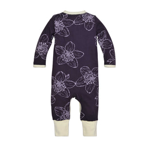 Burt's Bees Blackberry Floral Coverall - Bloom Kids Collection - Burt's Bee
