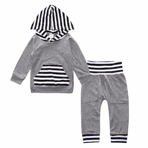 Black and Grey Jogger Set - Bloom Kids Collection - Bloom Kids Collection
