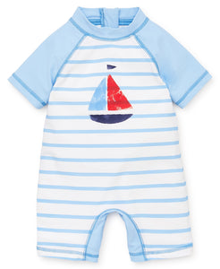 Little Me Sailboat Rash Guard Suit - Bloom Kids Collection - Little Me