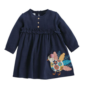 Mud Pie Turkey Dress - Navy