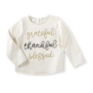 Mud Pie White Grateful Tee - Bloom Kids Collection - Mud Pie
