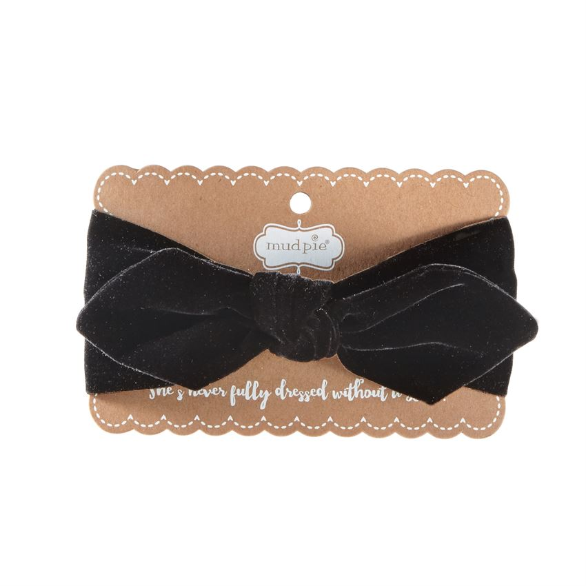 Mud Pie Black Velvet Headband