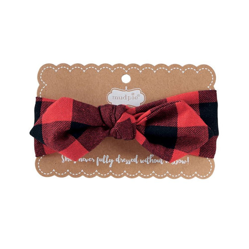 Mud Pie Buffalo Bow Headband