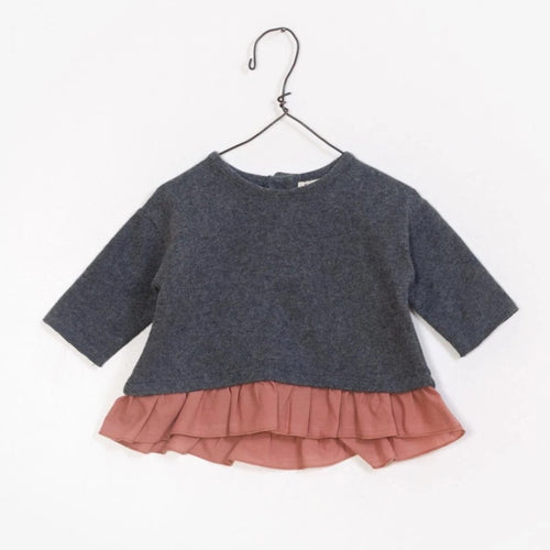 Play Up Mixed Ruffle Sweater - Boulder - Bloom Kids Collection - Play Up