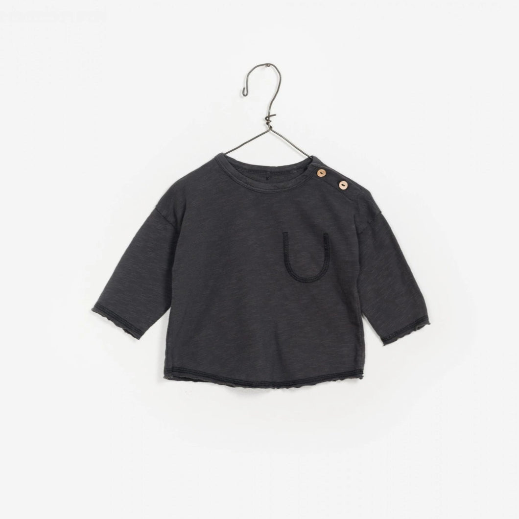 Play Up Flame Jersey Tee - Needle (Dark Grey) - Bloom Kids Collection - Play Up