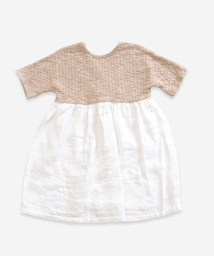 Play Up Mixed Dress - Cream