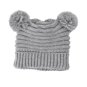 Mud Pie Pom Pom Hat - Grey
