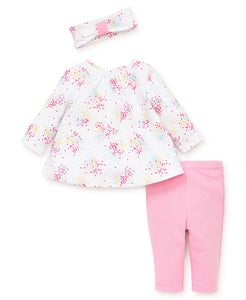 Little Me Dot Spray Tunic Set - Bloom Kids Collection - Little Me