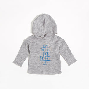 Miles Baby From the Block Hopscotch Hoodie - Blue - Bloom Kids Collection - Miles Baby