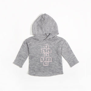 Miles Baby From the Block Hopscotch Hoodie - Pink - Bloom Kids Collection - Miles Baby