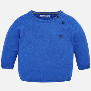Mayoral Basic Cotton Sweater - Blue - Bloom Kids Collection - Mayoral