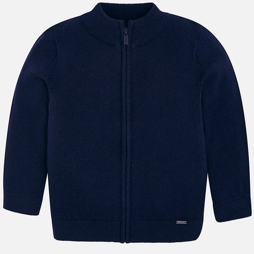 Mayoral Basic Knit Zip Up  - Navy - Bloom Kids Collection - Mayoral
