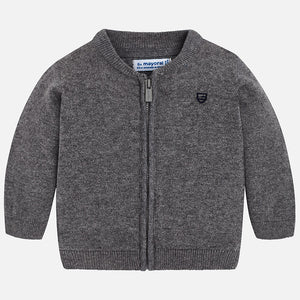 Mayoral Zip Up Sweater - Ash - Bloom Kids Collection - Mayoral