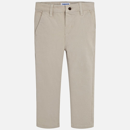 Mayoral Boy Slim Fit Chino Trousers - Soy