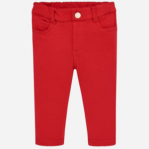 Mayoral Fleece Basic Trousers - Red