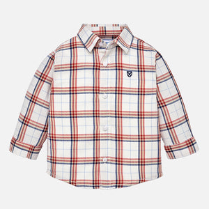Mayoral Checked Baby Button-Up Shirt - Red - Bloom Kids Collection - Mayoral