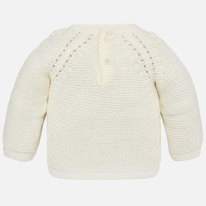 Mayoral Flowers Sweater - Natural - Bloom Kids Collection - Mayoral