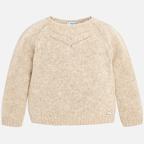 Mayoral Gloss Sparkly Sweater - Earth
