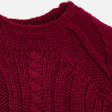 Mayoral Cable Knit Sweater - Raspberry - Bloom Kids Collection - Mayoral