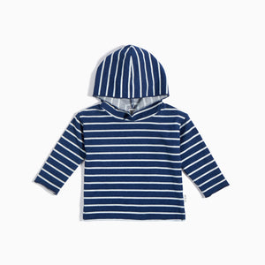 Miles Baby Striped Indigo Wash Hoodie - Bloom Kids Collection - Miles Baby