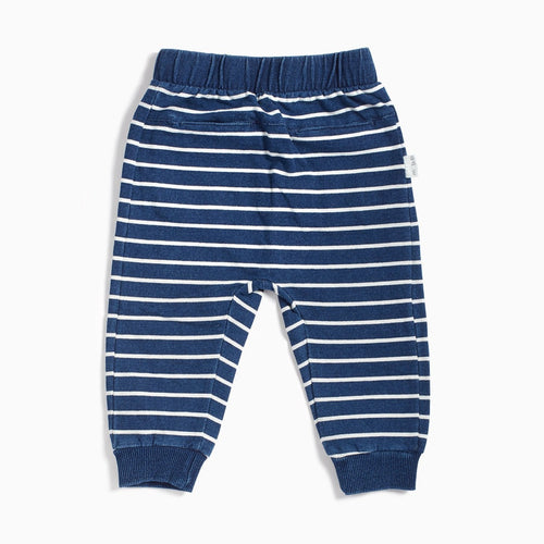Miles Baby Striped Jogger Pant Blue Stripe Indigo