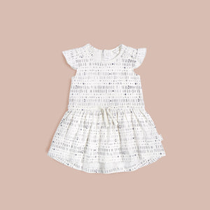 Miles Baby Miles To Go White Dress - Bloom Kids Collection - Miles Baby