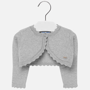 Mayoral Basic Knitted Cardigan - Silver - Bloom Kids Collection - Mayoral