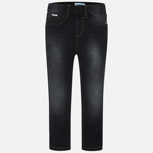 Mayoral Basic Denim Pants - Black