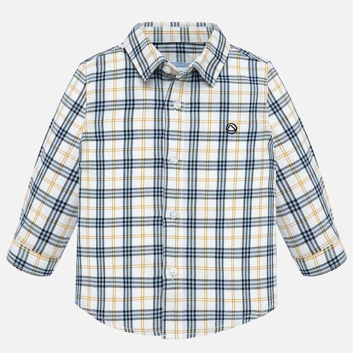 Mayoral Long Sleeve Checked Shirt - Corn - Bloom Kids Collection - Mayoral