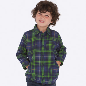 Mayoral Checked Overshirt - Bloom Kids Collection - Mayoral