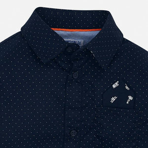 Mayoral Long Sleeve Printed Shirt - Navy Blue - Bloom Kids Collection - Mayoral