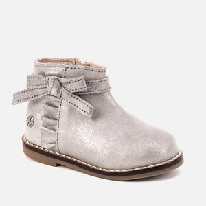 Mayoral Leather Ankle Boots - Silver