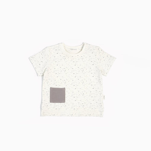 Miles Baby Baby White Noise T-Shirt - Off White - Bloom Kids Collection - Miles Baby