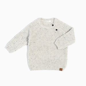 "Miles Baby ""White Noise"" Knitted Sweater - Bloom Kids Collection - Miles Baby"