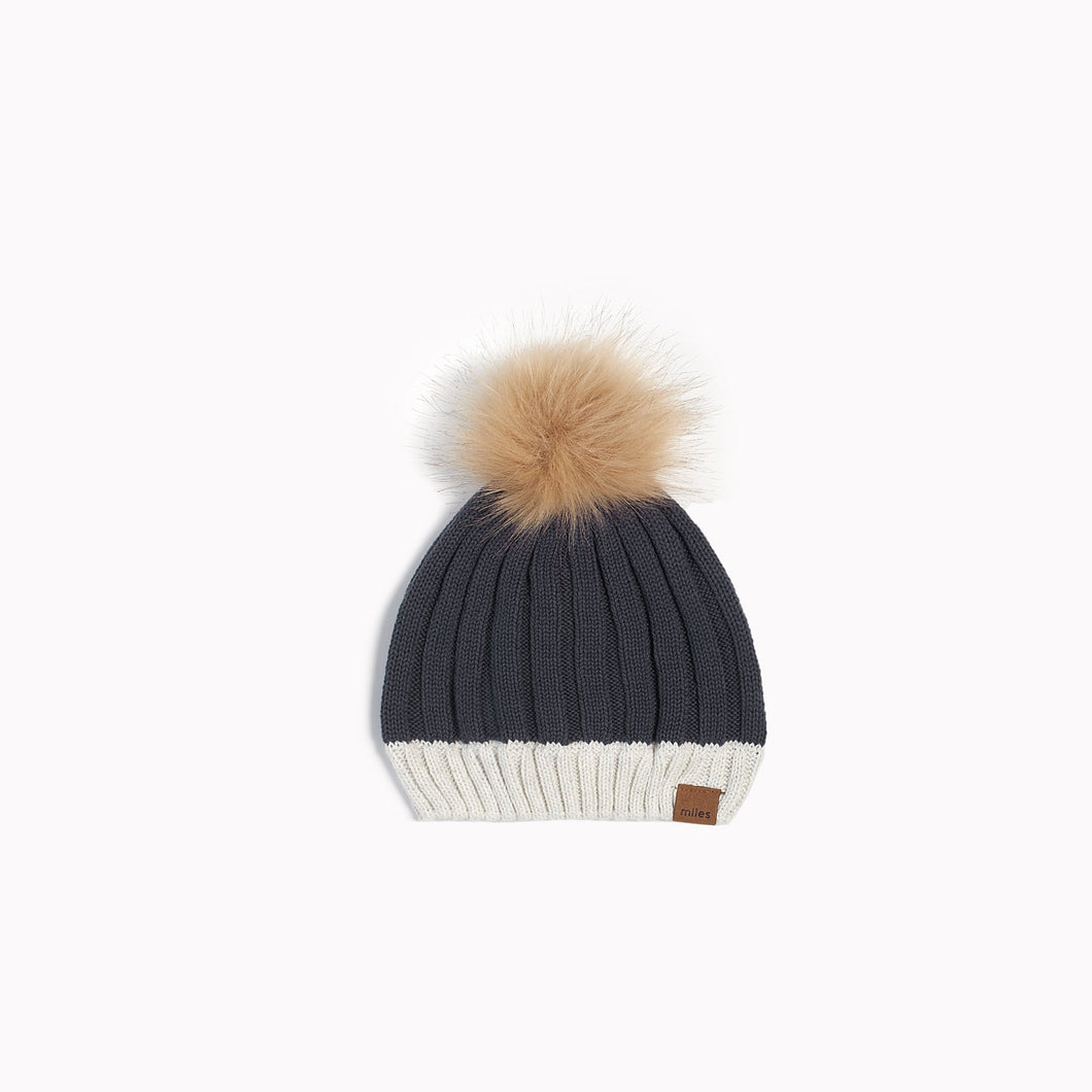 Miles Baby Alpine Club Knit Hat - Dark Grey