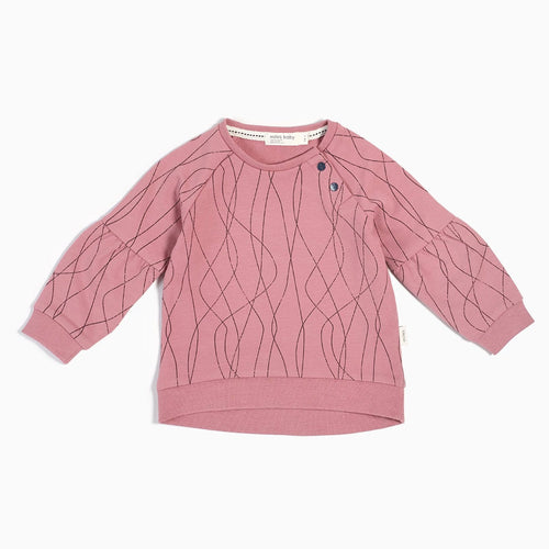 Miles Baby Ski Tracks Sweater - Dusty Pink - Bloom Kids Collection - Miles Baby