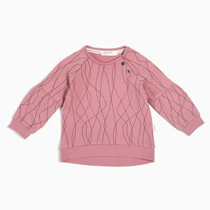 Miles Baby Ski Tracks Sweater - Dusty Pink