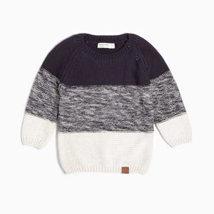 "Miles Baby Color Block ""Oh What Fun"" Knit Sweater - Bloom Kids Collection - Miles Baby"