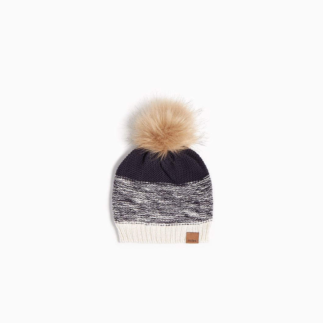Miles Baby Oh What Fun Knit Hat - Navy - Bloom Kids Collection - Miles Baby