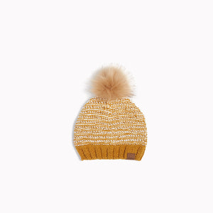 "Miles Baby Wheat ""It Pasta Be You"" Knit Hat - Bloom Kids Collection - Miles Baby"