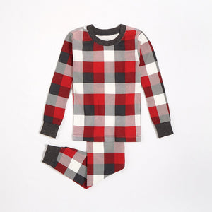 Petit Lem Plaid Pajama Set - Red
