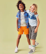 Tea Collection Madras Woven Shirt - Seabreeze Plaid - Bloom Kids Collection - Tea Collection