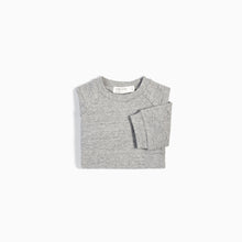 Miles Baby Basic Heather Grey Crew Neck Sweatshirt