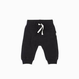 "Miles Baby ""The Basics"" Black Jogger Pant"