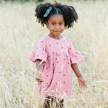 Lulu + Roo Bell Dress - Rose Pink Floret - Bloom Kids Collection - Lulu + Roo