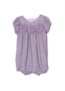 Isobella and Chloe Flora Dance Romper - Purple - Bloom Kids Collection - Isobella and Chloe