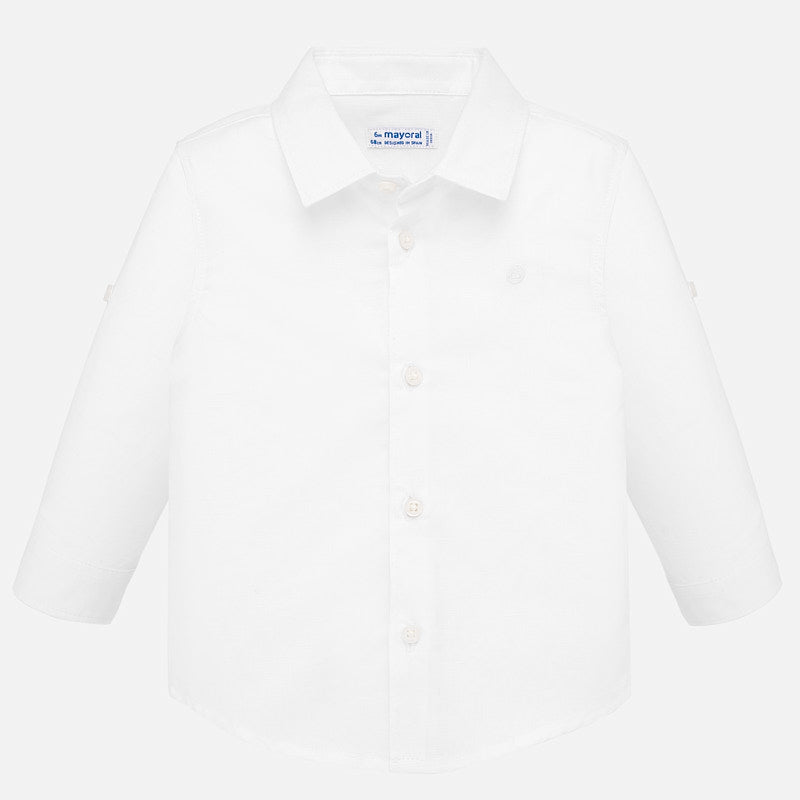 Mayoral Baby Boy Linen Shirt - White - Bloom Kids Collection - Mayoral