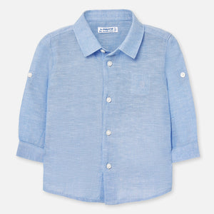 Mayoral Baby Boy Linen Shirt - Light Blue